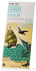 Trader Joe's Dark Chocolate Bar - Caramel with Black Sea Salt
