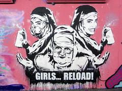 Femme Fierce graffiti, Leake Street