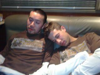 OAR guys asleep in Camper