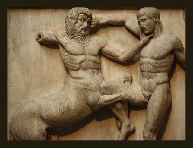 Centaur Amp A Lapith In Battle Flickr Photo Sharing