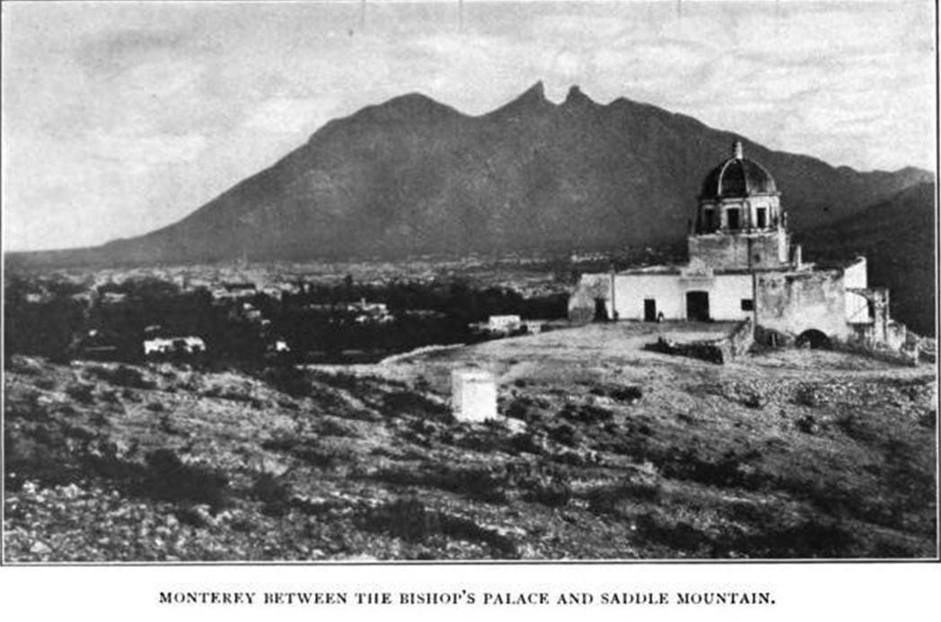 Monterrey entre el obispado y el cerro de la silla 1904 for Sillas para iglesias en monterrey