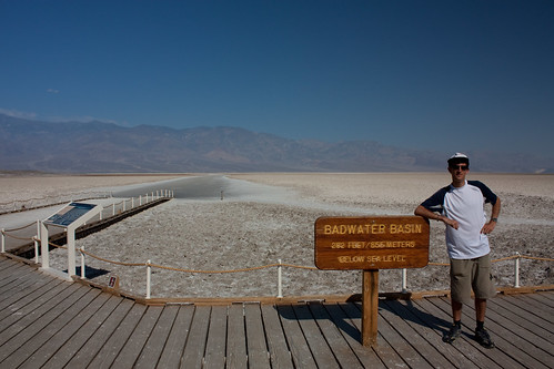 Death Valley - Me in front of the Badwater Basin