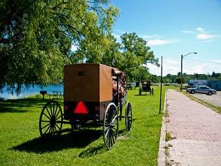 Amish Family Goes Fishing