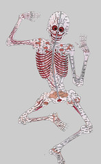 sketch(0.0), costume design(0.0), human body(0.0), drawing(0.0), hand(1.0), art(1.0), arm(1.0), skeleton(1.0), head(1.0), cartoon(1.0), illustration(1.0), organ(1.0),
