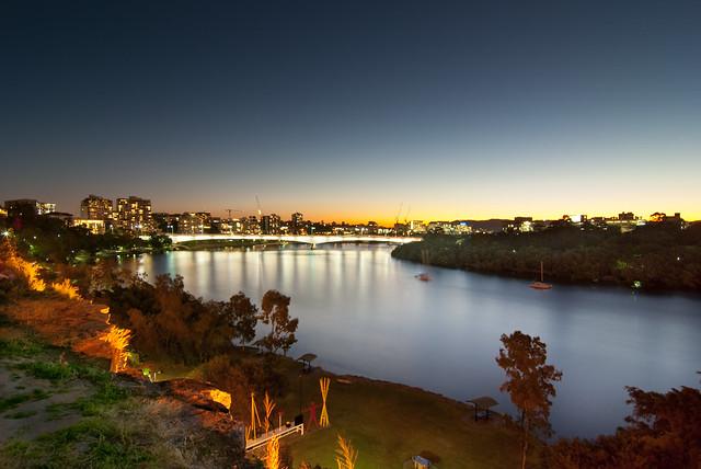 Captain Cook Bridge and Brisbane River