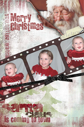 Christmas card digital scrapbooking layouts and ideas by vivayne