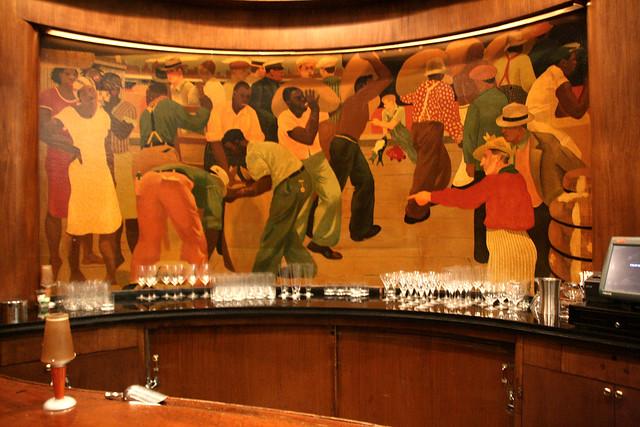 Paul Ninas' Murals in the Sazerac Bar