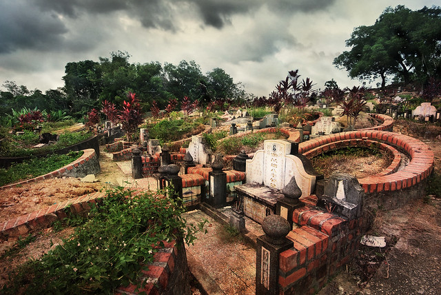 An old cemetery in Singapore which no longer exists