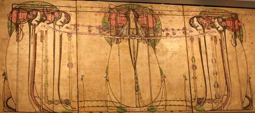 Gesso panel by Margaret Macdonald Mackintosh