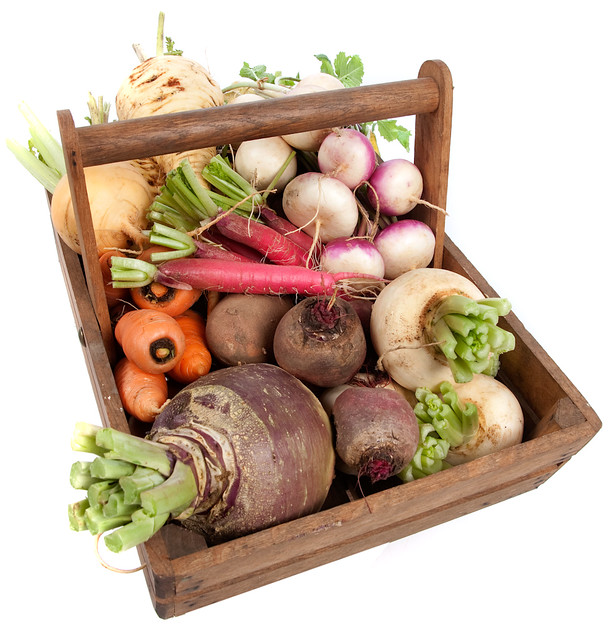 Autumn root vegetables