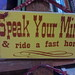 Small photo of Speak Your Mind & ride a fast horse