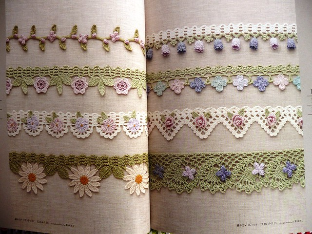 Crochet Patterns Edgings And Borders : Crochet Edging and Braid Book ISBN978-4-02-190432-5 or 402 ...