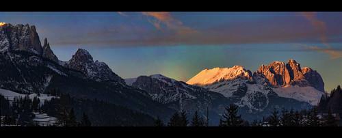 sunset italy panorama ski alps nature beauty clouds montagne geotagged nikon italia tramonto nuvole pano natura panoramic alpi montagna trentino dolomiti bellezza moena valdifassa mywinners nikond40 andrearapisarda vosplusbellesphotos geo:lat=46378252 geo:lon=11663399