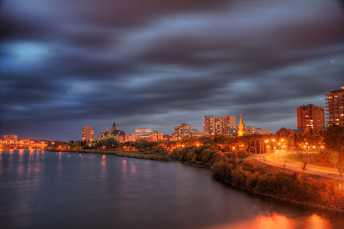 Saskatoon at night