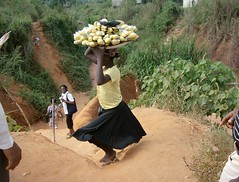 carrying fruit to market, Nigeria
