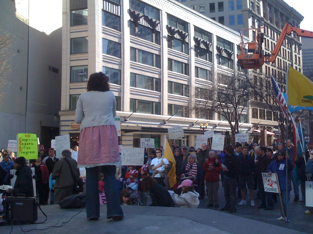 Seattle Anti-Porkulus Protest
