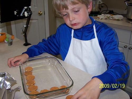 PJ makes Banana Pudding
