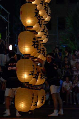 japan night matsuri akita 秋田 kanto まつり 竿灯