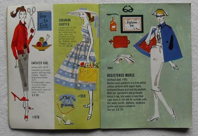 Barbie and Ken 1961 Mattel Vintage Fashion Illustration Catalogs 1960s (2)