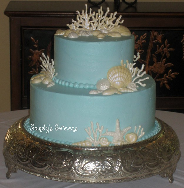 sea shell wedding cake flickr photo sharing. Black Bedroom Furniture Sets. Home Design Ideas