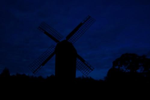 blue sky windmill silhouette skåne nightshot sweden canonefs1785mmf456isusm ringsjön enbrabild
