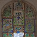 Stained glass window inside Amer Fort by ciamabue
