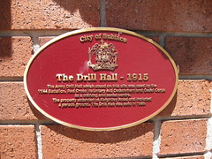 Photo of Drill Hall, Perth red plaque