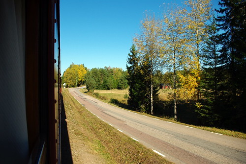 road railroad sky tree museum train pentax sweden värmland svanskog k200d negeasca jååj