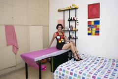 Aviv Day In her Room - Mondrian Homage