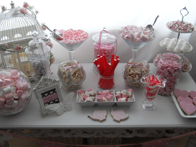 My sister has started doing candy buffets for weddings