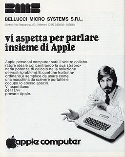 Italian Apple ad with Steve Jobs