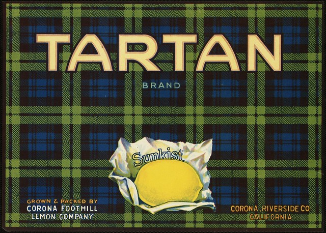 Tartan Brand: Grown & packed by Corona Foothill Lemon Company, Corona, Riverside Co., California