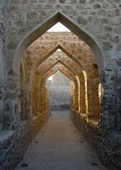 Bahrain Fort arches