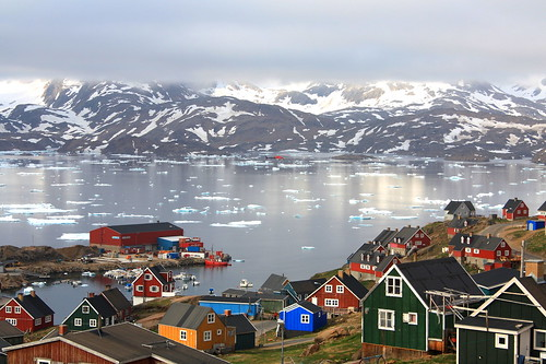 The Village of Tasiilaq Greenland by christine zenino