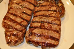 meal, steak, roasting, grilling, pork chop, rib eye steak, meat, sirloin steak, food, dish, meat chop, cuisine,