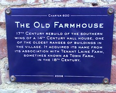 Photo of The Old Farmhouse, Alfriston blue plaque
