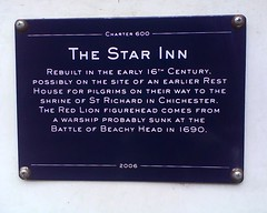 Photo of Star Inn, Alfriston blue plaque