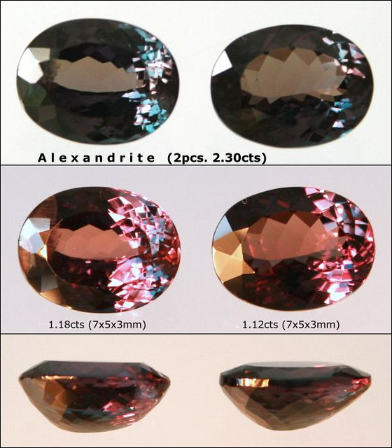 1 pair of Alexandrite, 2.30 carats
