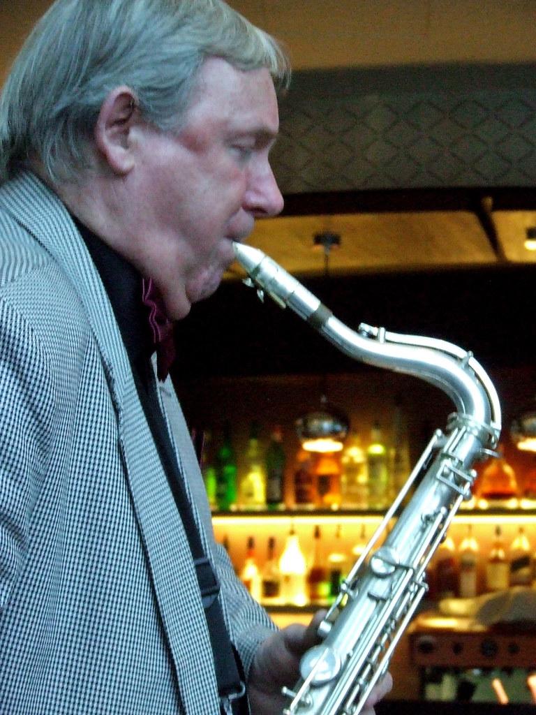 The bar behind the Saxophone player, Elefant Hotel, Riga