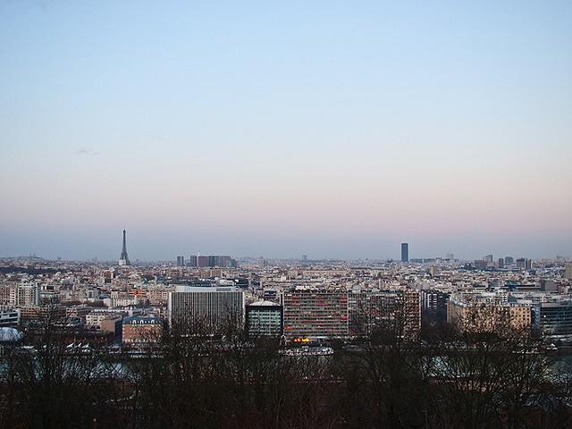 Paris depuis le parc St Cloud