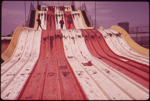"Abandoned ""Giant Slide"" at Coney Island Marks Decline of Area's Recreational Use 05/1973"