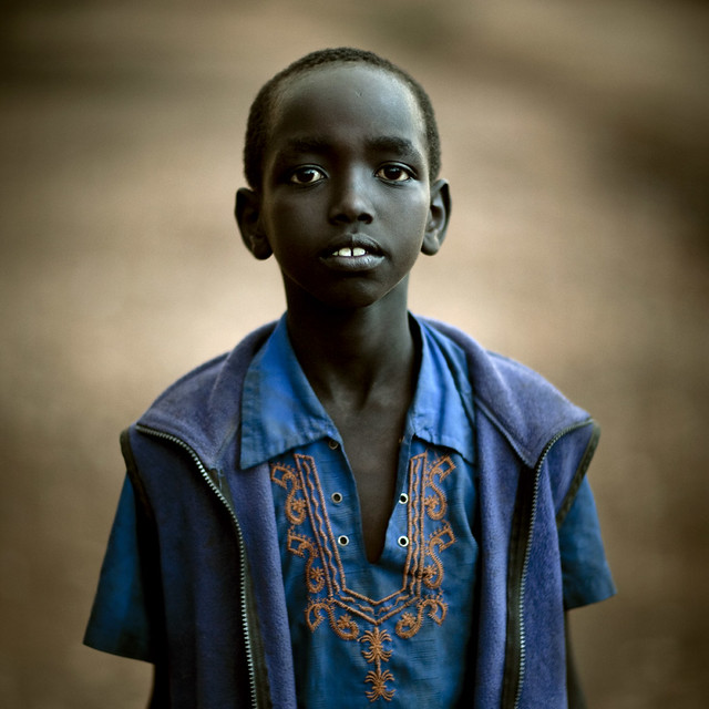Young boy in Kenya