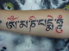 om mani pad me hum (Dejavu Tattoo Studio Chiangmai Thailand)