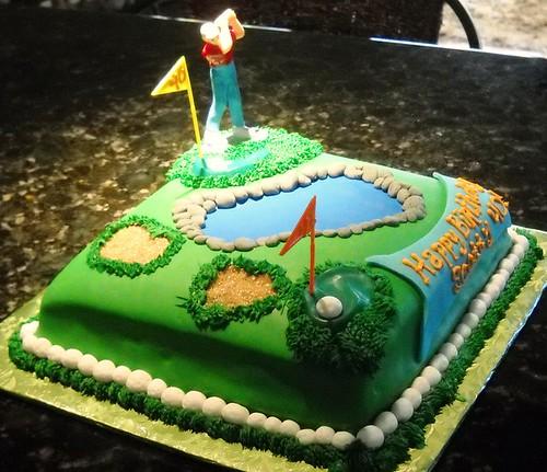 Fondant Golf Cake Design : 40th birthday golf cake pictures