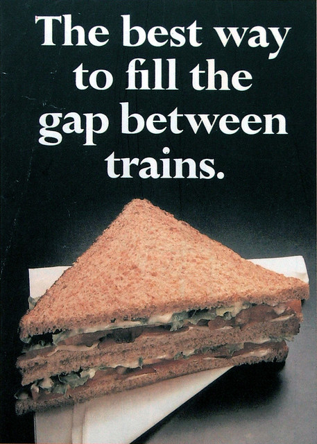 The heady days of 1970s food on the go: a Travellers' Fare sandwich.