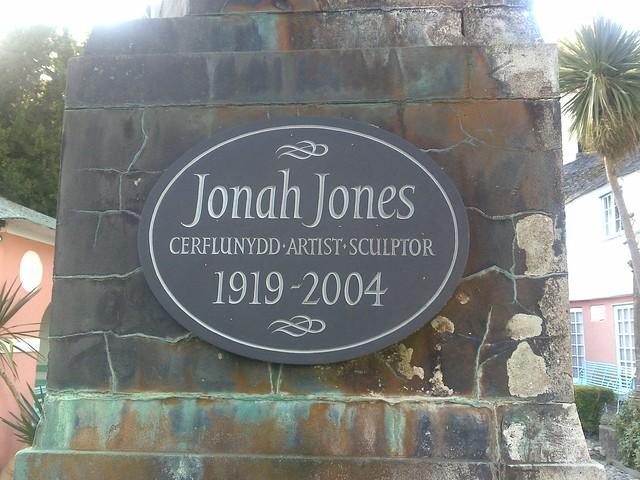 Photo of Jonah Jones grey plaque