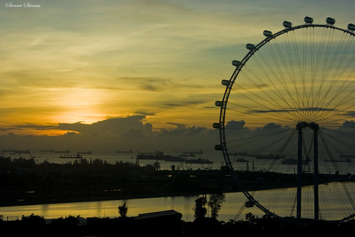 Sunrise in Singapore