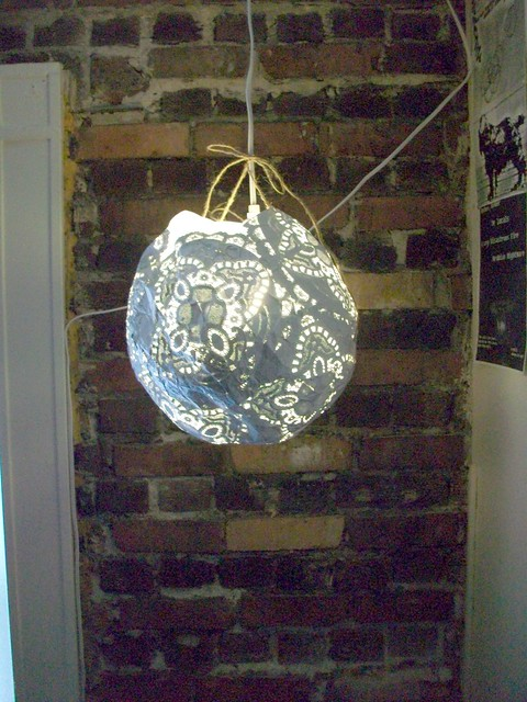 Paper mache lantern flickr photo sharing for How to make paper mache lamps