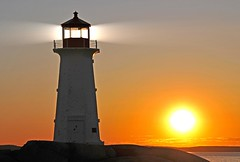 [Free Images] Architecture, Lighthouse, Sunrise / Sunset, Landscape - Canada ID:201212101600