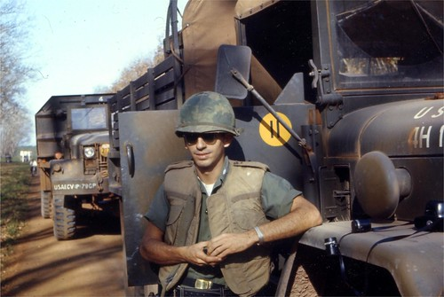 1st Lt Don Elsom in Vietnam with a convoy 1966-67 by Don Elsom by 7th Surgical Hospital (MA)  Vietnam